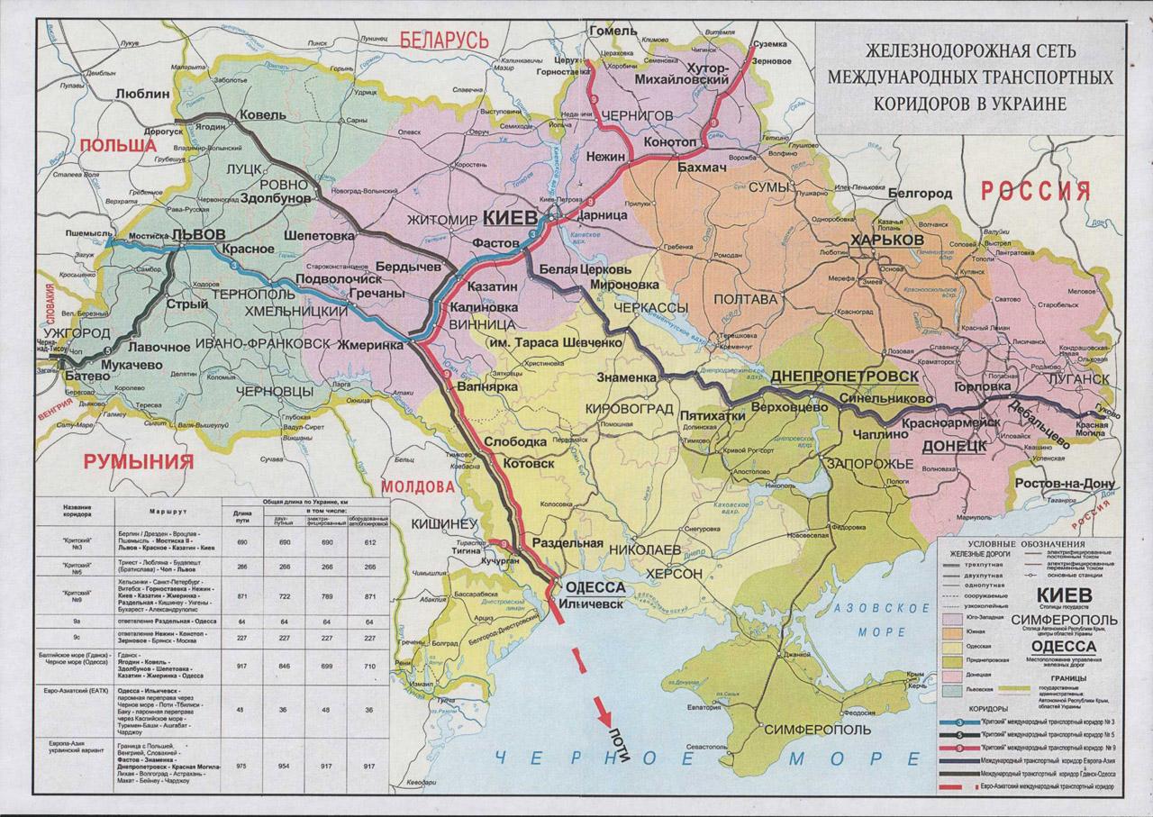 Жд перевозки транспортные коридоры Украина