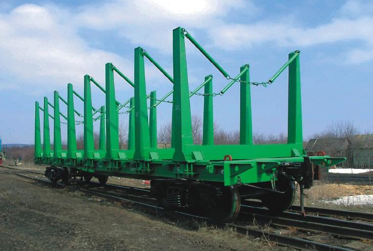 Платформа, оборудованная лесными стойками мод.13-4012-16