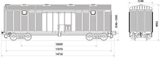 Крытые вагоны 11—217